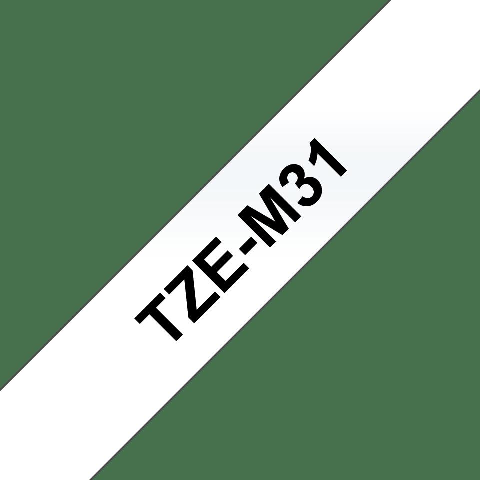 Brother TZeM31: оригинальная кассета с лентой для печати ламинированных наклеек черным на прозрачном матовом фоне, ширина: 12 мм. 3