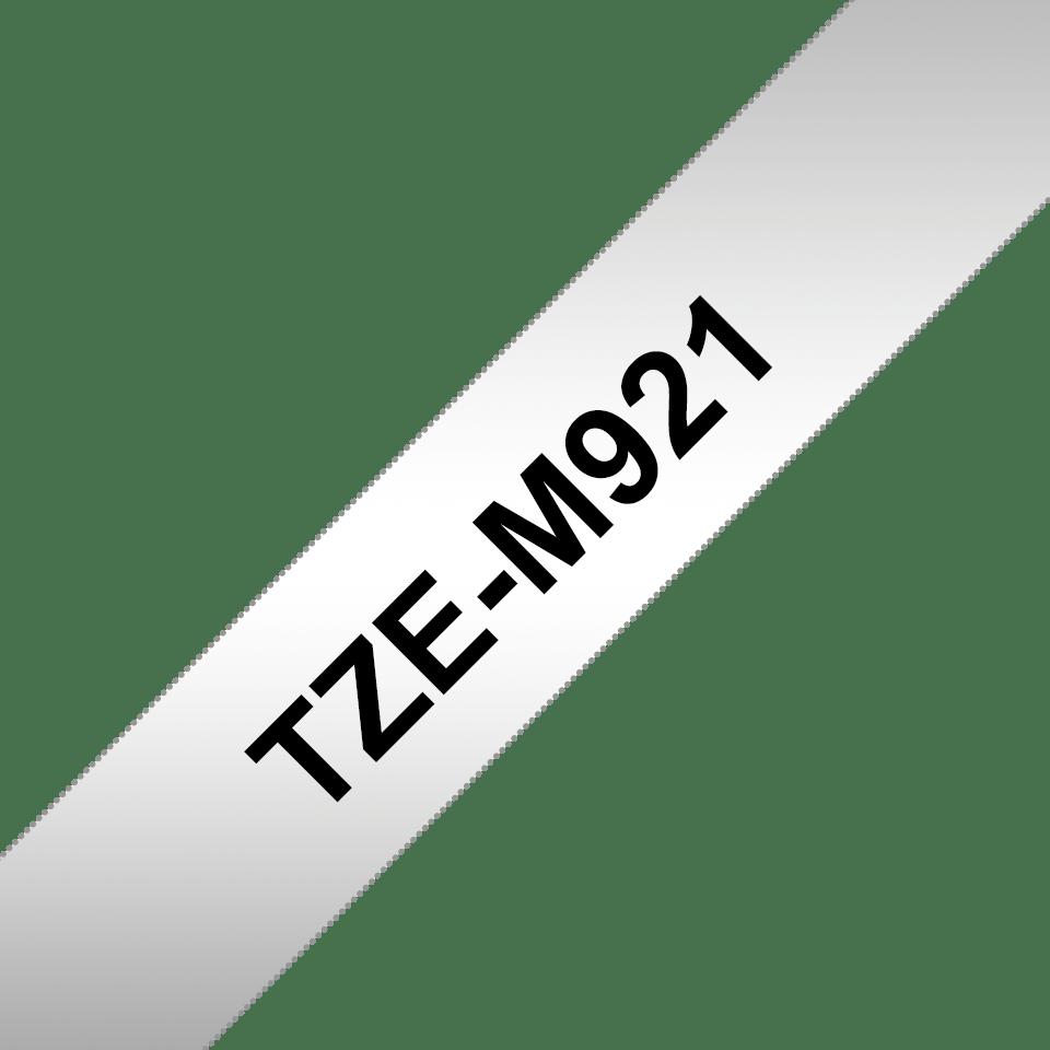 Brother TZeM921: оригинальная кассета с лентой для печати наклеек черным на матовом серебристом фоне, ширина: 9 мм. 3