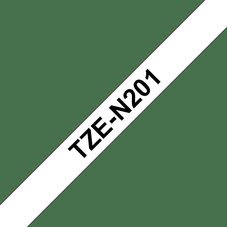 Brother TZeN201: оригинальная кассета с лентой для печати наклеек черным на белом фоне, ширина: 3,5 мм. 3
