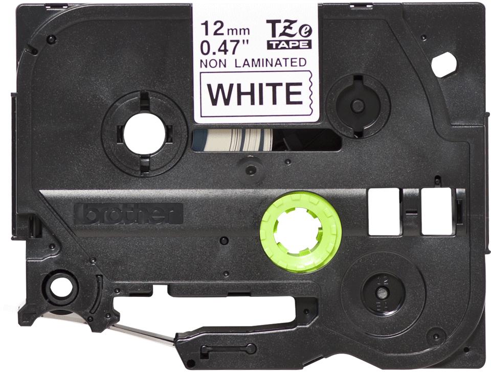 Brother TZeN231: оригинальная кассета с лентой для печати наклеек на принтере PTouch, черным на белом фоне, в одном экземпляре, 12 мм.