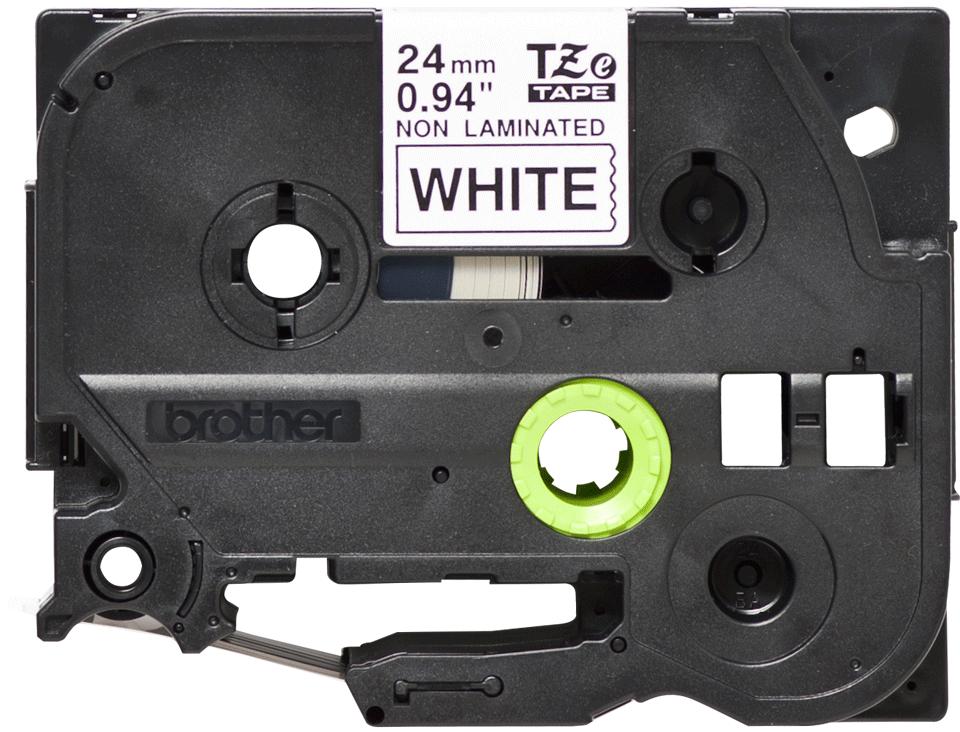 Brother TZeN251: оригинальная кассета с лентой  для печати наклеек черным на белом фоне, ширина: 24 мм.