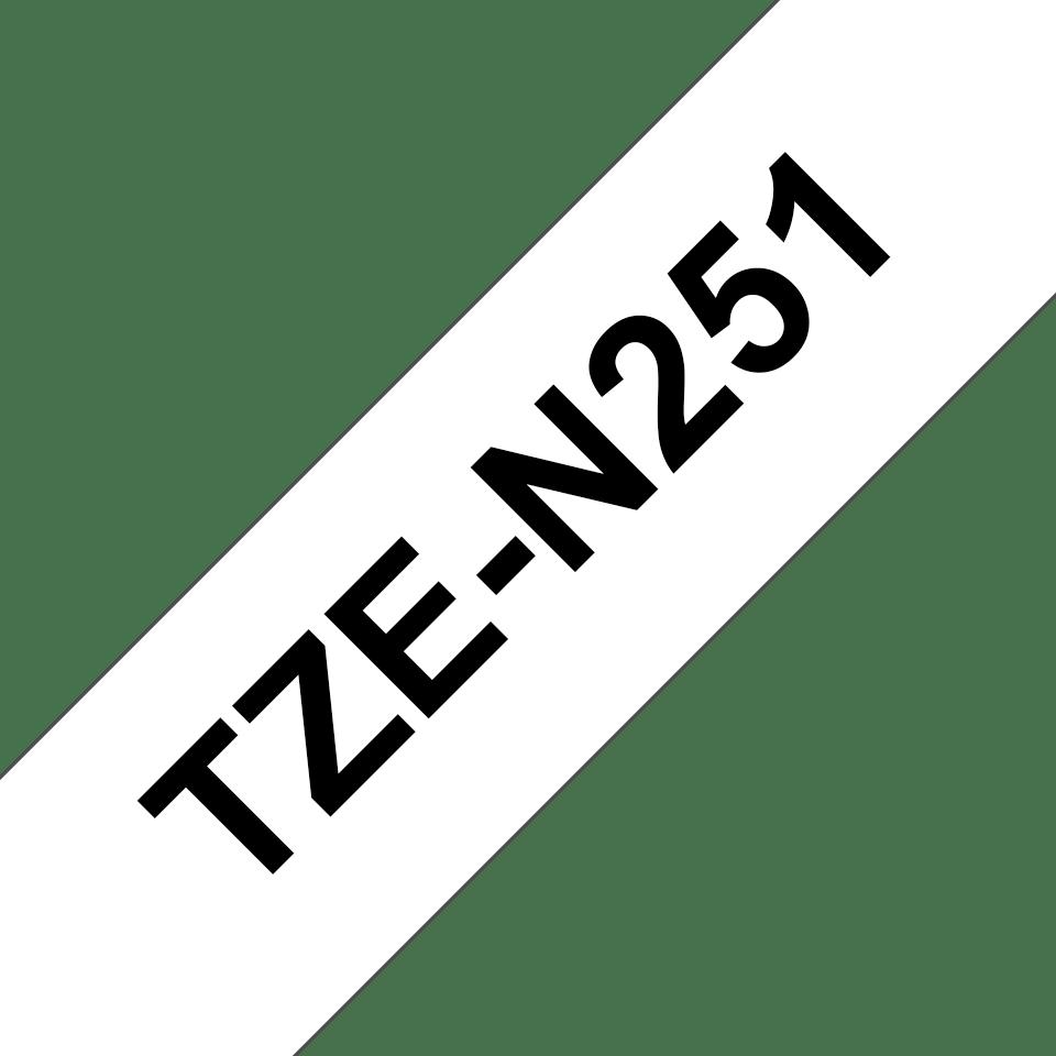 Brother TZeN251: оригинальная кассета с лентой  для печати наклеек черным на белом фоне, ширина: 24 мм. 3