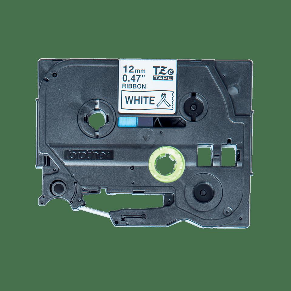 TZeR231: оригинальная кассета с тесьмяной лентой для печати наклеек черным на белом фоне, ширина 12 мм.