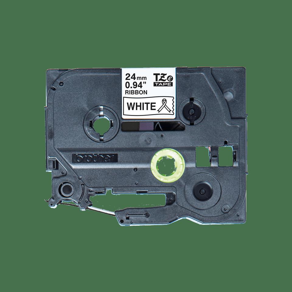Оригинальная кассета с тканевой лентой TZe-R251 -черный на белом, ширина 24 мм.