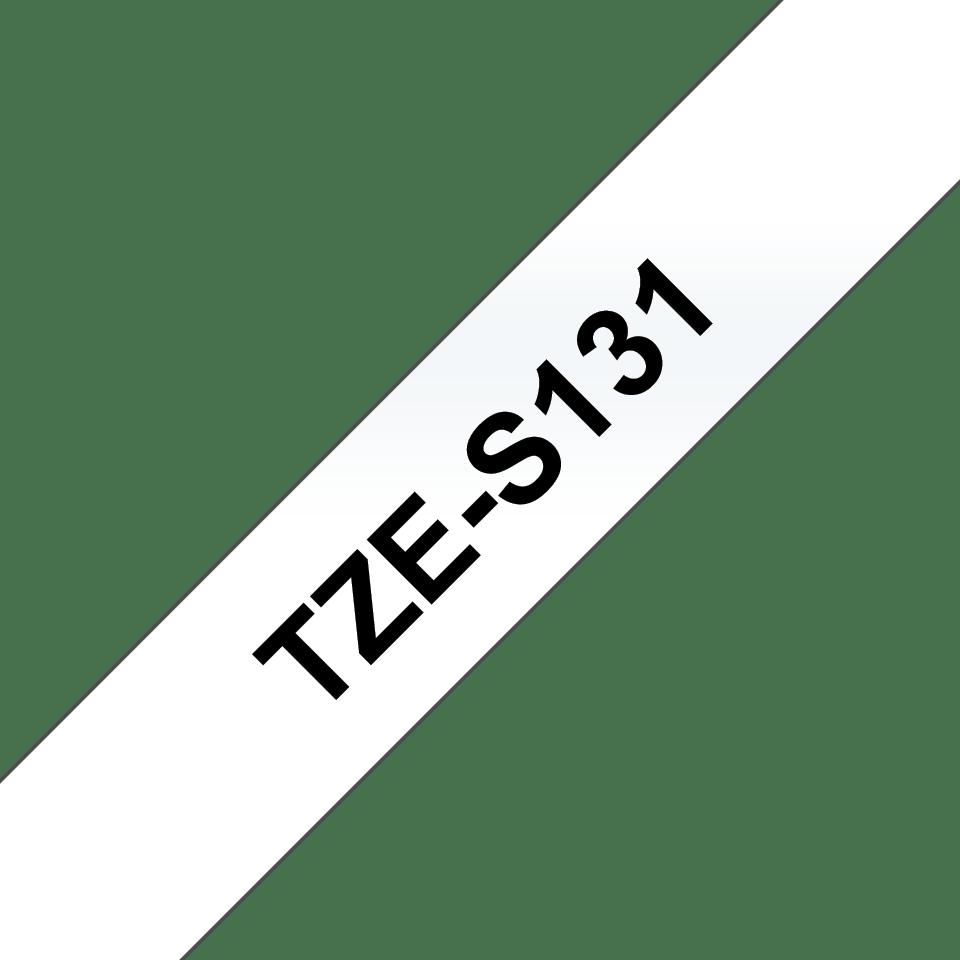 Brother TZeS131: оригинальная кассета с лентой с мощной клейкой поверхностью для печати наклеек черным на прозрачном фоне, ширина: 12 мм. 3