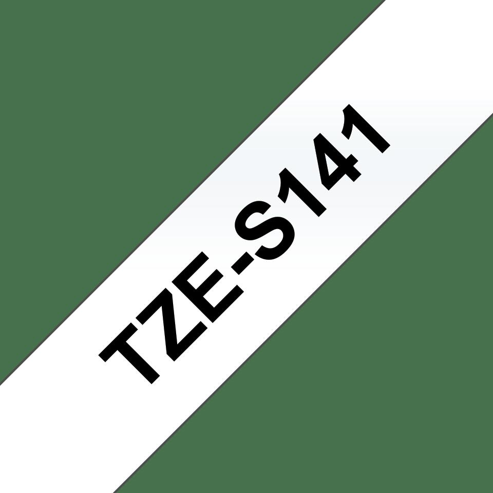 Brother TZeS141: оригинальная кассета с лентой с мощной клейкой поверхностью для печати наклеек черным на прозрачном фоне, ширина: 18 мм. 3